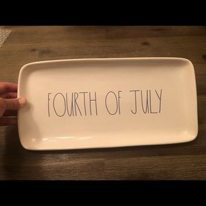 Rae Dunn New Fourth of July Platter (Blue writing)